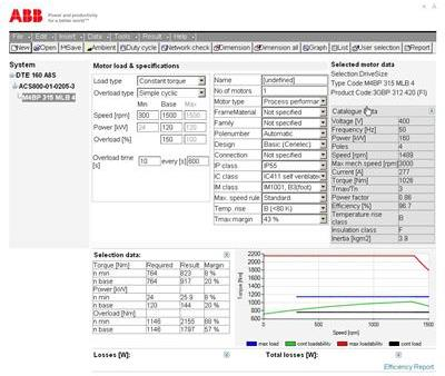DriveSize - Software tools | ABB